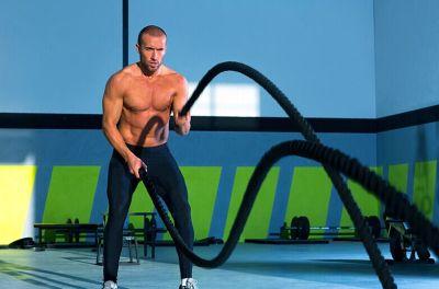 UFC fitness training fitness MMA fighting rope rope rope rope climbing rope muscle strength training