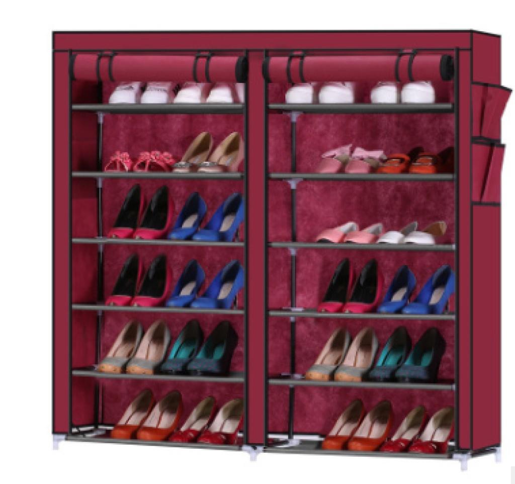 双排大容量 简易鞋柜 防尘鞋架 收纳创意组合 布鞋柜