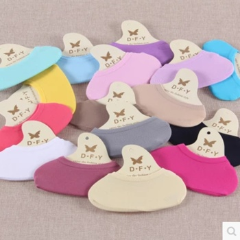 Butterfly wind edge candy colored shallow mouth invisible boat socks stretch silicone magic socks wholesale