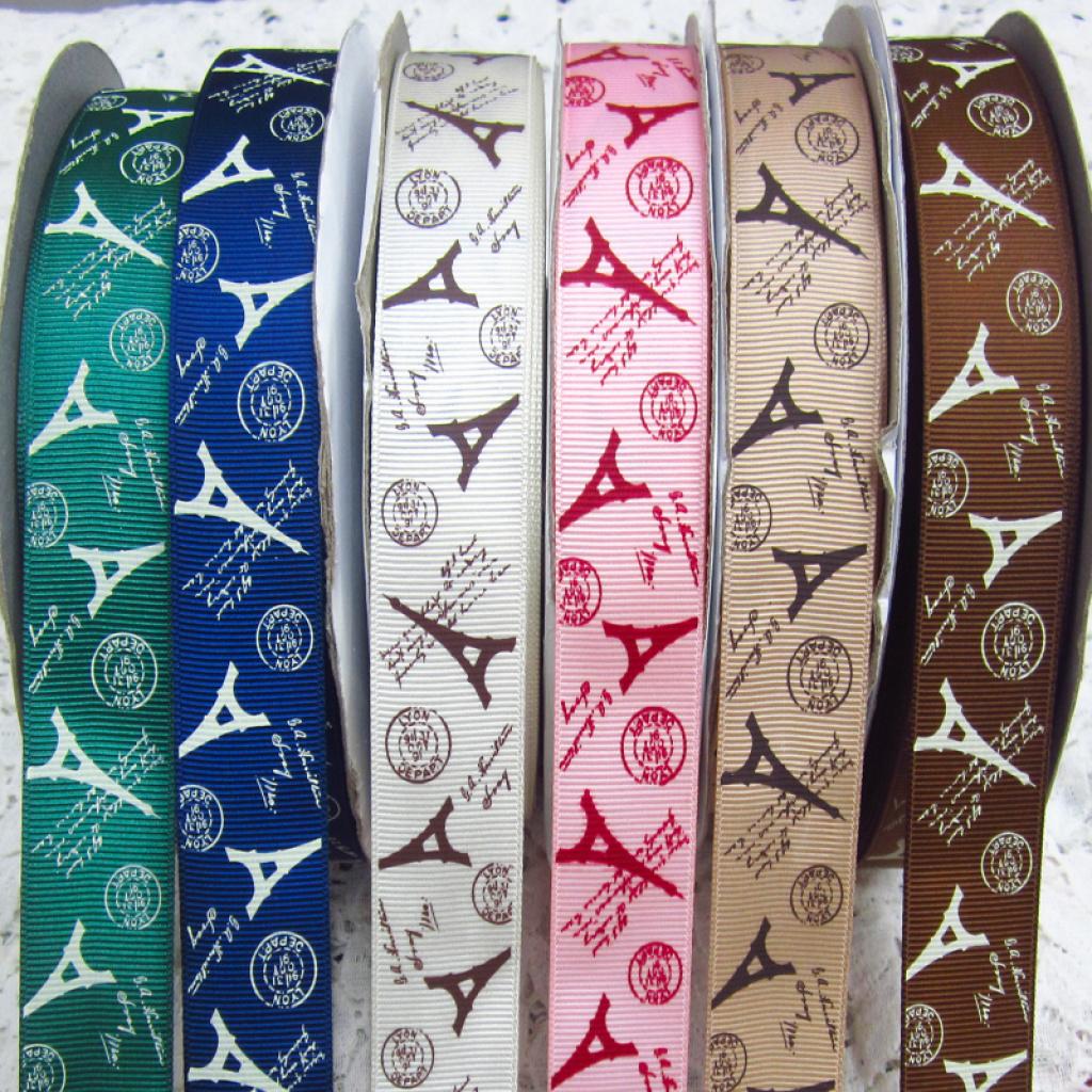 埃菲尔铁塔印花织带,丝带