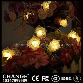 LED Rose Festival Home Furnishing wedding decoration lamp string lights flashing