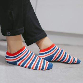 Han Guochun new summer socks color stripe cotton men's socks