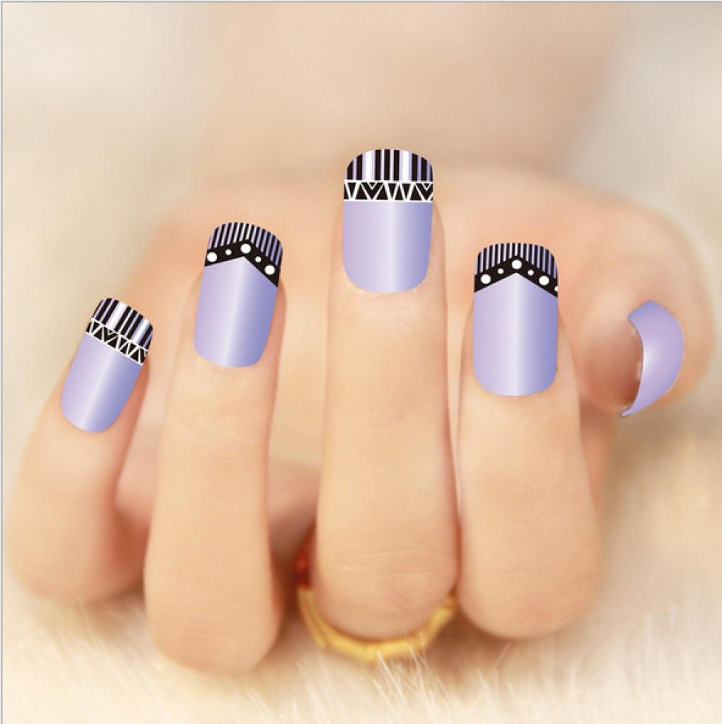 指甲贴花 2d超薄 黑色系列diy美甲贴纸