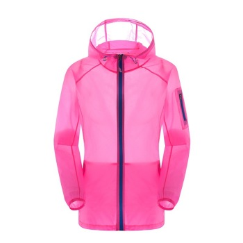 Elastic skin clothing and ultra-thin breathable outdoor sport sunblock windbreaker casual summer
