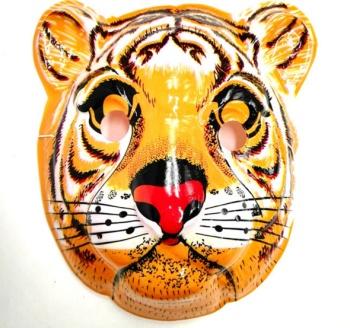 pvc老虎面具 卡通塑料儿童面具