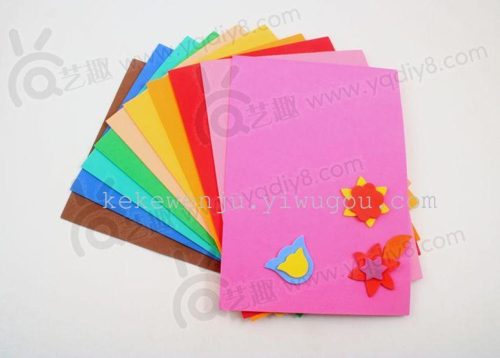 eva 海绵纸手工剪纸 彩色混色金粉eva 金葱eva 背胶-美美的海绵纸书签
