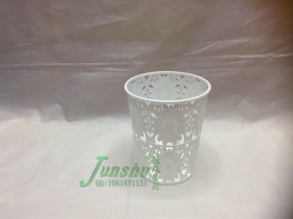 塑料镂空花边垃圾桶纸篓