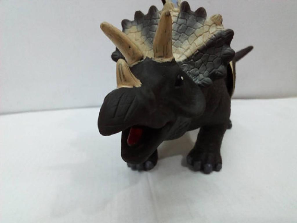 恐龙动物玩具犀角龙带声音7050a填充棉