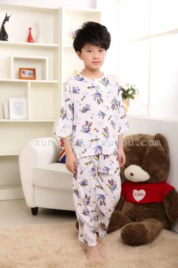 Bourette suit children pajamas air conditioning service