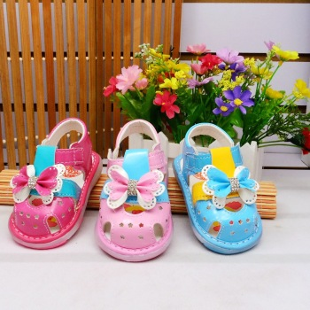Bow Girl Toddler sandals on baby shoes soft non slip bottom light sandals baby baby