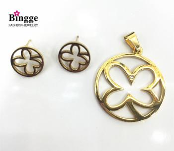Stainless steel pendant earrings set are versatile
