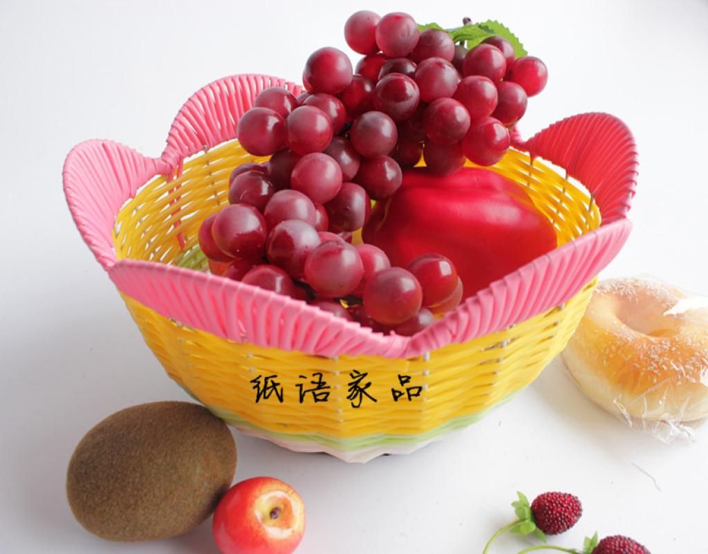 花形手工编制水果篮