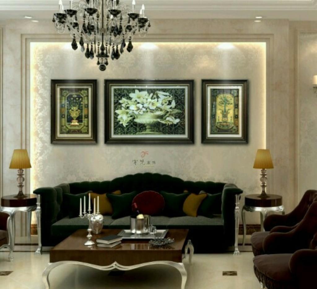 欧式沙发背景画