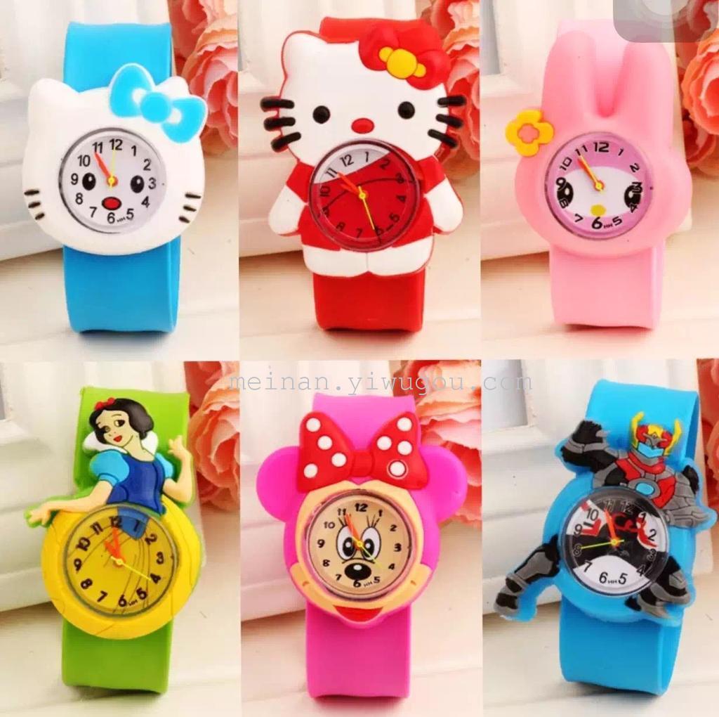 时尚儿童拍拍手表可爱卡通手表