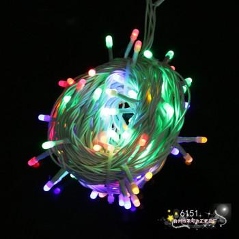 The Christmas tree festival decoration lamp string lights LED lights flashing lights on the stars