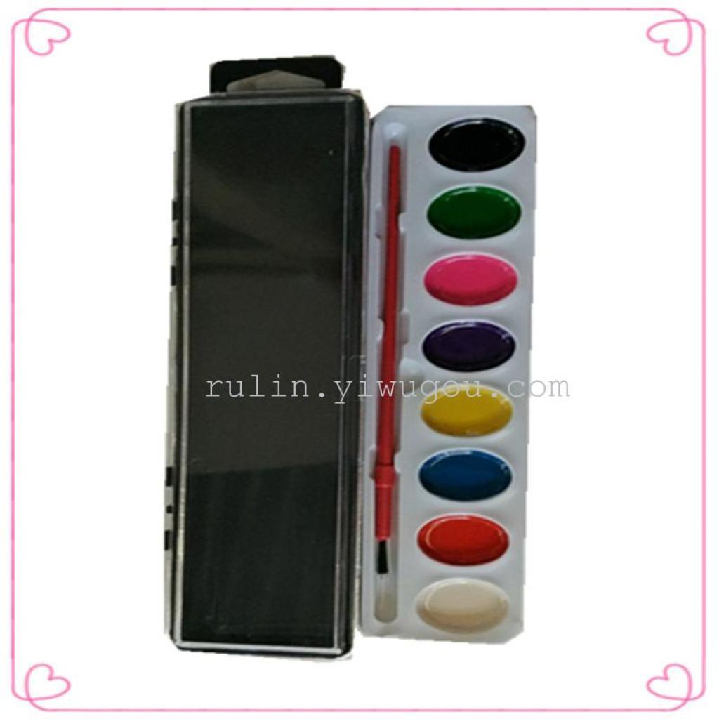 8色水彩颜料半干水粉画颜料涂鸦学画专用幼儿绘画