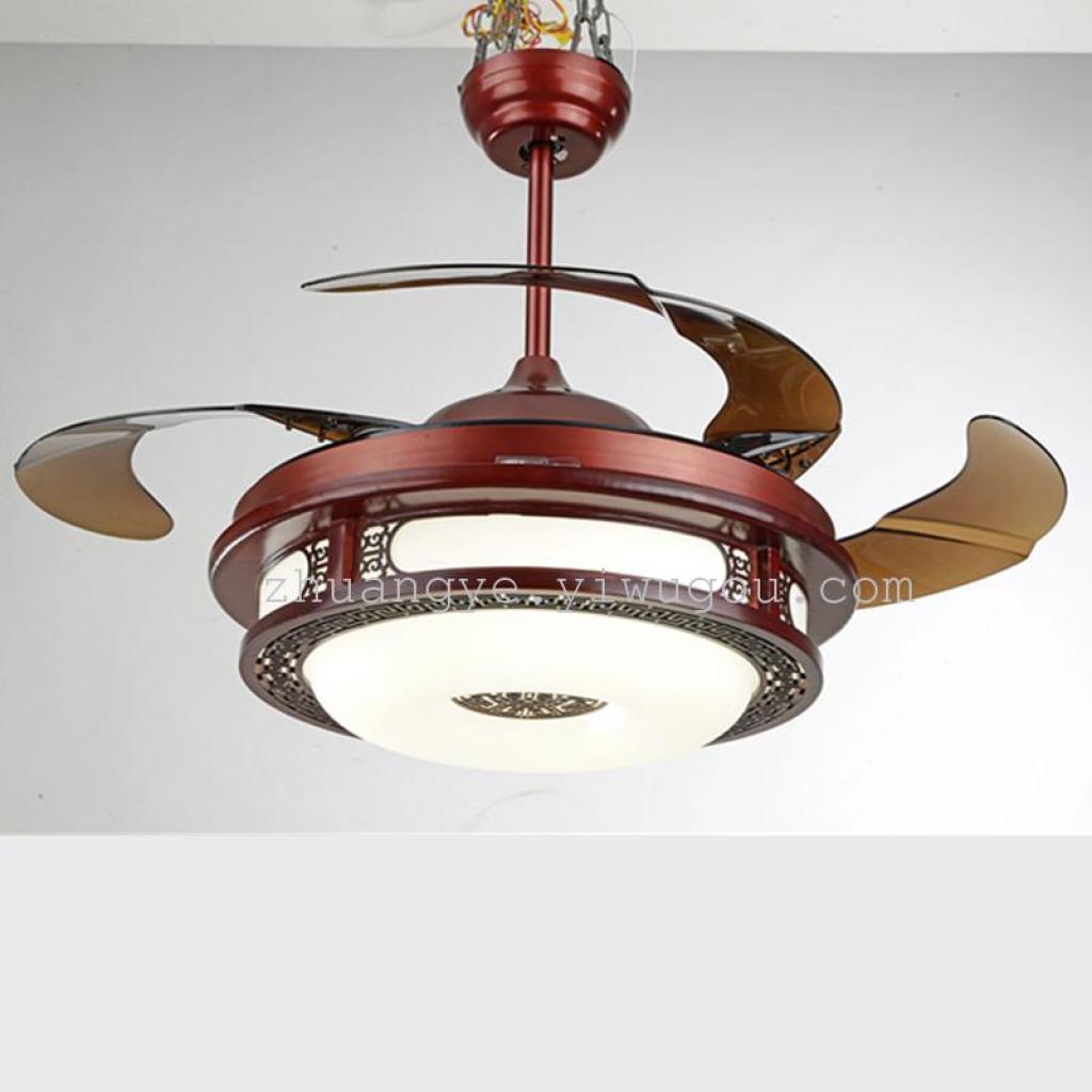 变频隐形风扇吊灯遥控带灯吊扇led风扇灯9028