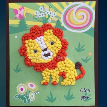 儿童diy手工揉纸画 益智玩具 手工纸 动物图案