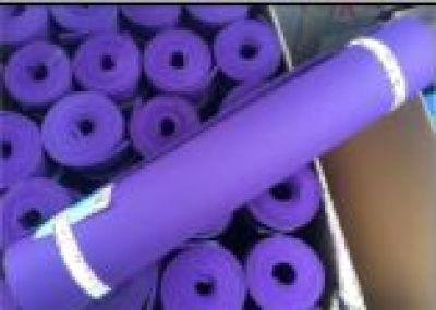 TPE monochrome double sided yoga mat
