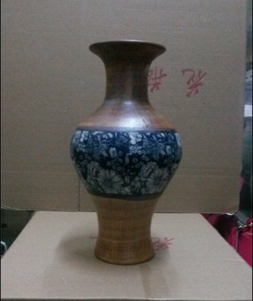 Jingdezhen blue and white porcelain antique vase fabric craft ornaments elegant gifts study the living room office