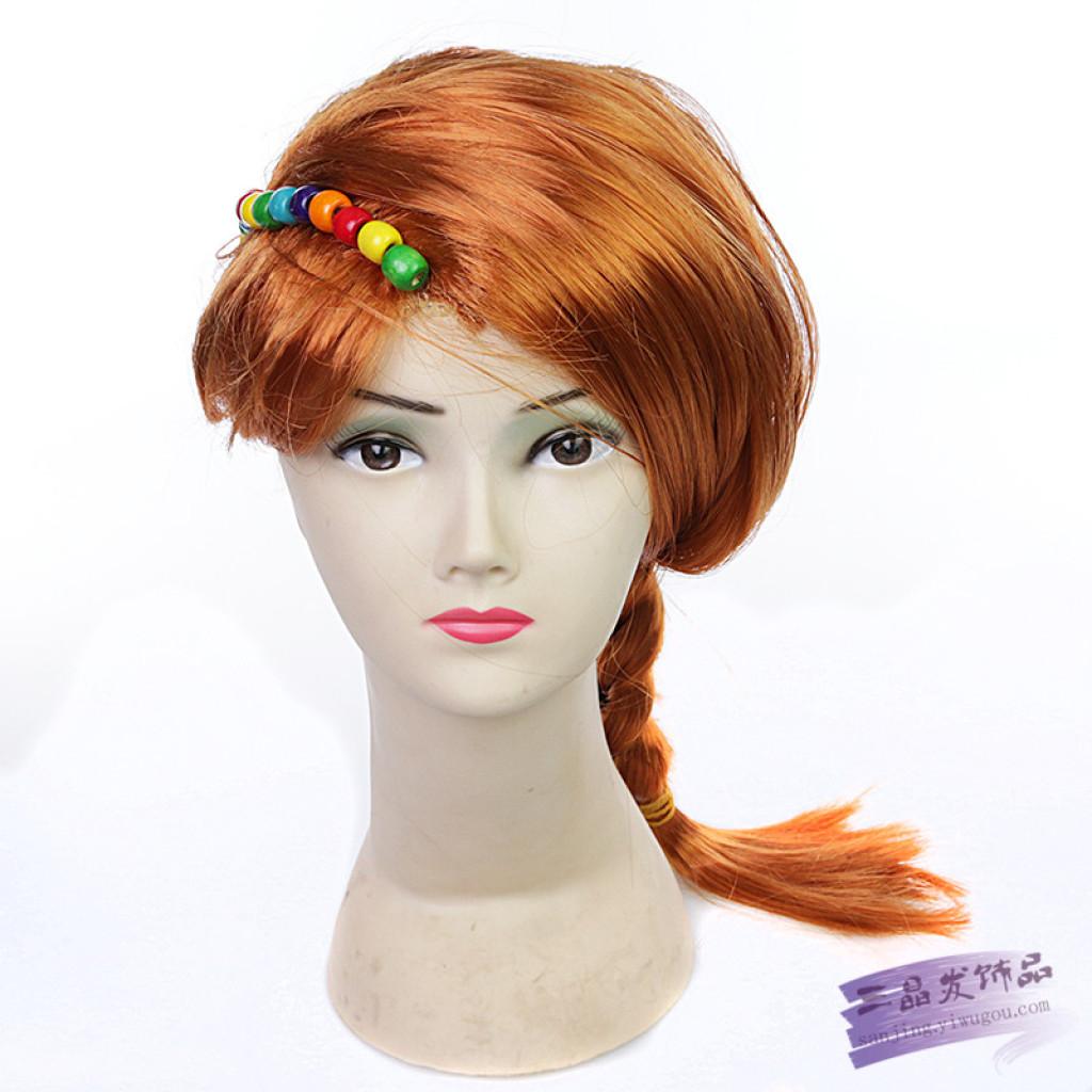 韩国学生麻花辫假发 女长直发甜美可爱中长发假发套