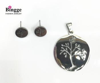 South American fashion jewelry pendant earrings set