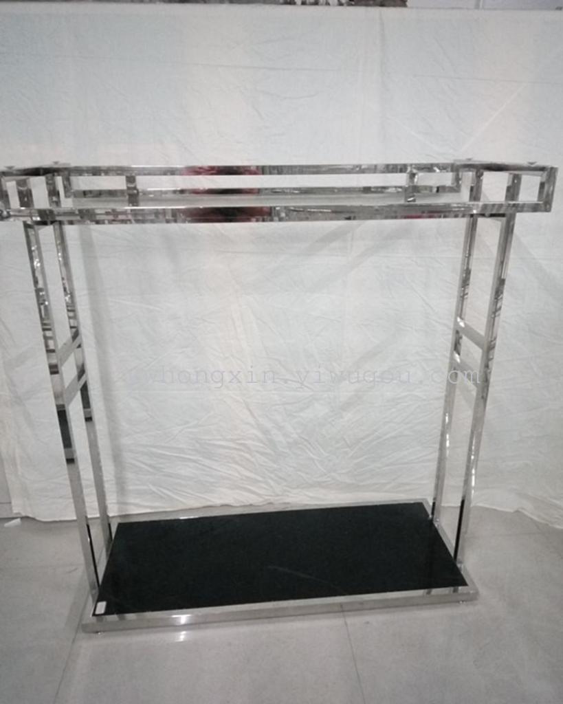 不锈钢方管双杠展架 欧式服装展示货架