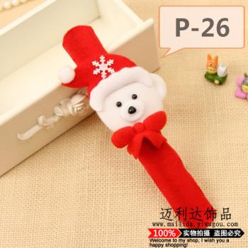厂家直销圣诞拍拍圈 雪人老人小狗圣诞拍拍圈