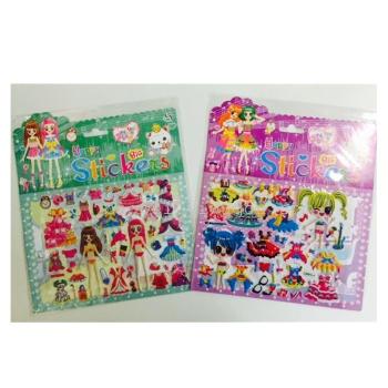 moda vestito bolla adesivi adesivi adesivi ragazze vestito da principessa bambini per mano