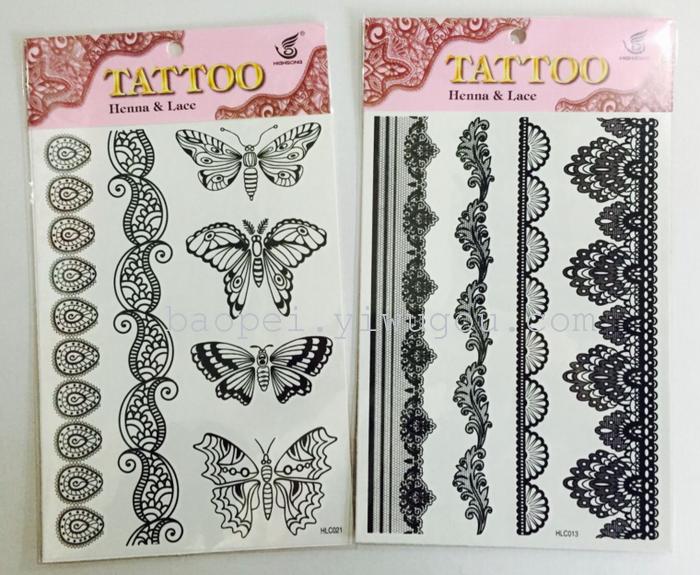 蕾丝手环纹身图案内容图片分享