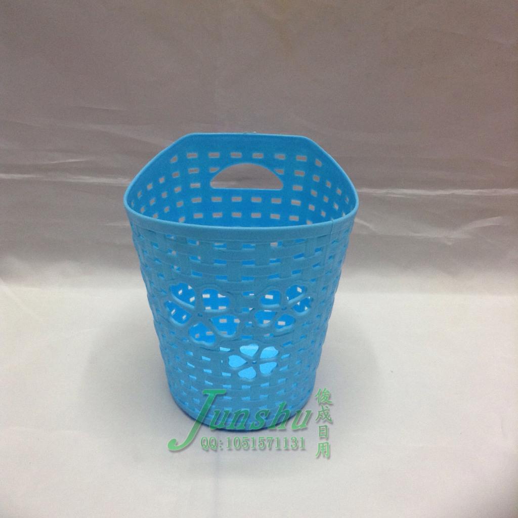 塑料镂空垃圾桶收纳桶纸篓笔筒挂篮