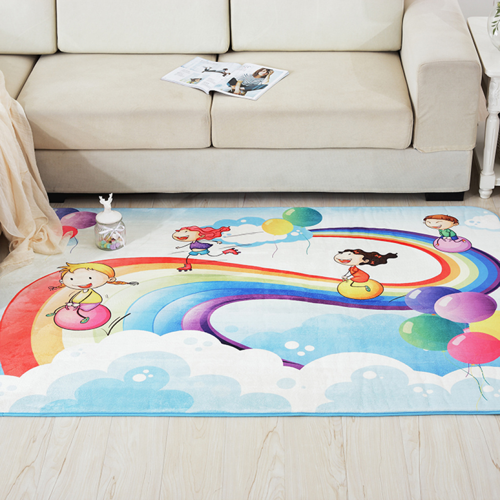 Supply Cartoon Bedroom Carpet Child Climbing Pad