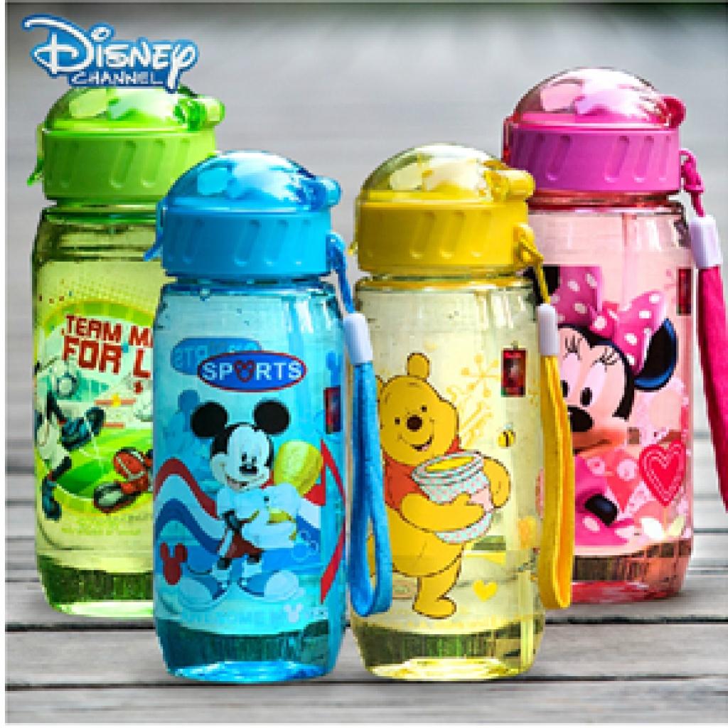 迪士尼水杯吸管儿童塑料壶便携防漏直饮运动米奇 6340