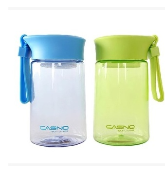 卡西诺塑料磨砂随手杯带盖便携学生创意太空杯 1128