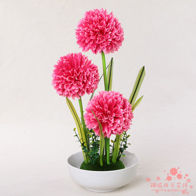 Supply Artificial flowers flower pot set the living room TV cabinet ...
