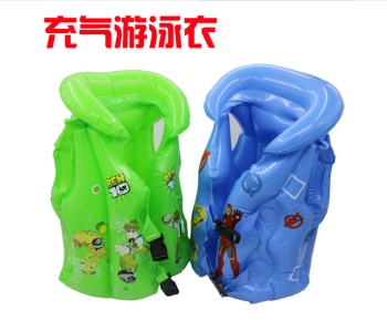 Yiwu manufacturers selling inflatable cartoon children swimsuit spread hot