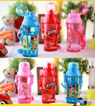 正品迪士尼夏季水壶可爱卡通杯子学生儿童便携水杯0645