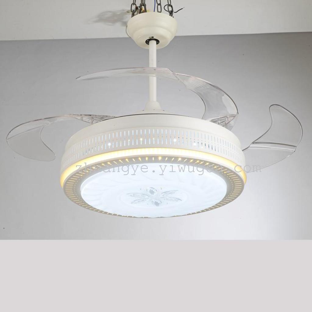 隐形风扇吊灯变频带灯电风扇遥控led吊扇灯9057