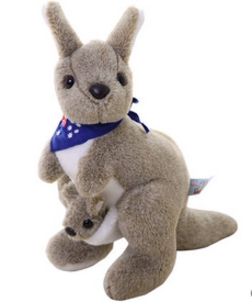 仿真可爱袋鼠公仔毛绒玩具抱枕大号老鼠布娃娃玩偶儿