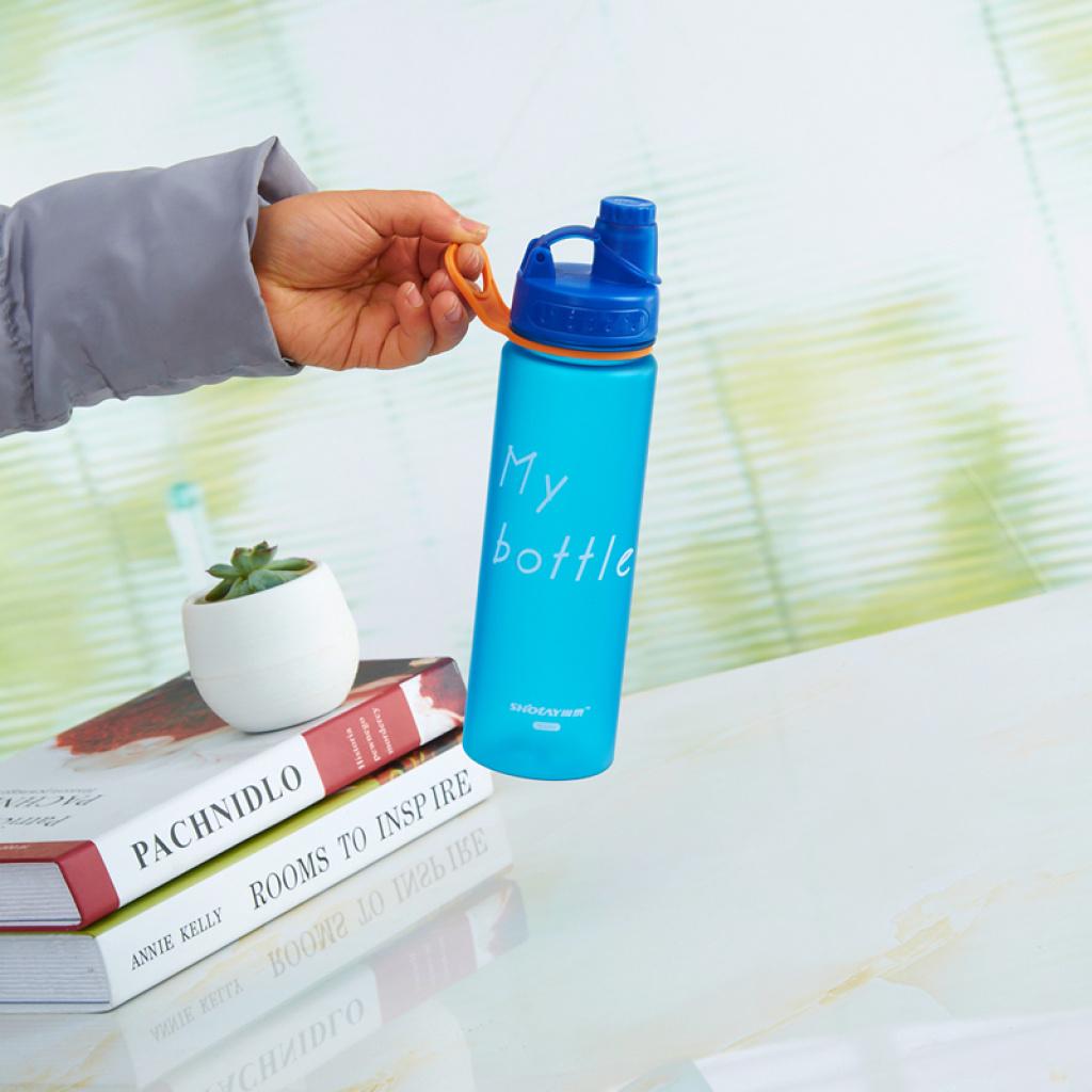 尚泰塑料水杯便携运动防漏随行杯子创意莹彩磨砂茶杯 6589