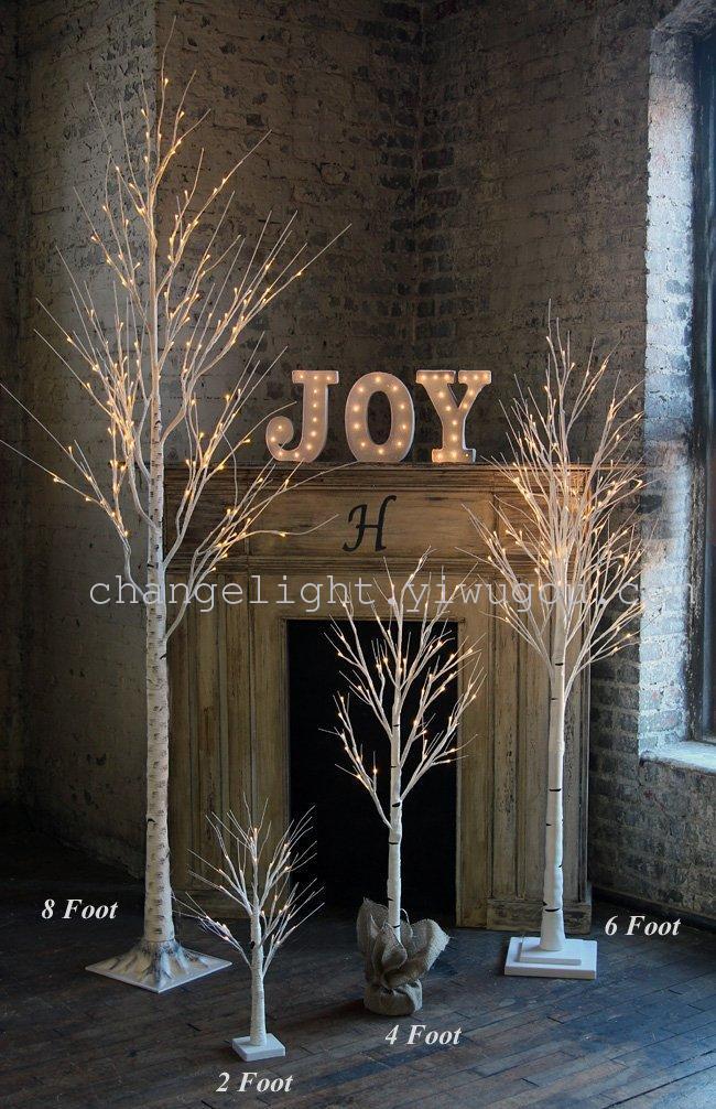 厂家直销led圣诞雪树灯枯树灯白桦树灯圣诞树灯铁树