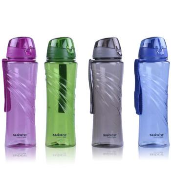 顺美动感韵律水杯650ml便携创意塑料杯有盖运动 6551