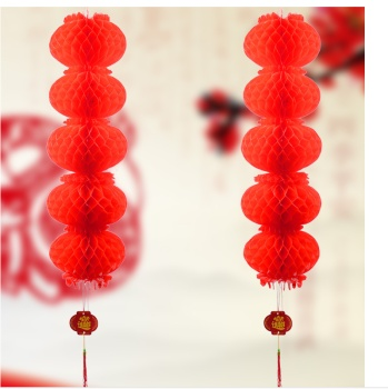 Plastic paper wedding festival opening ceremony advertising decoration string factory wholesale