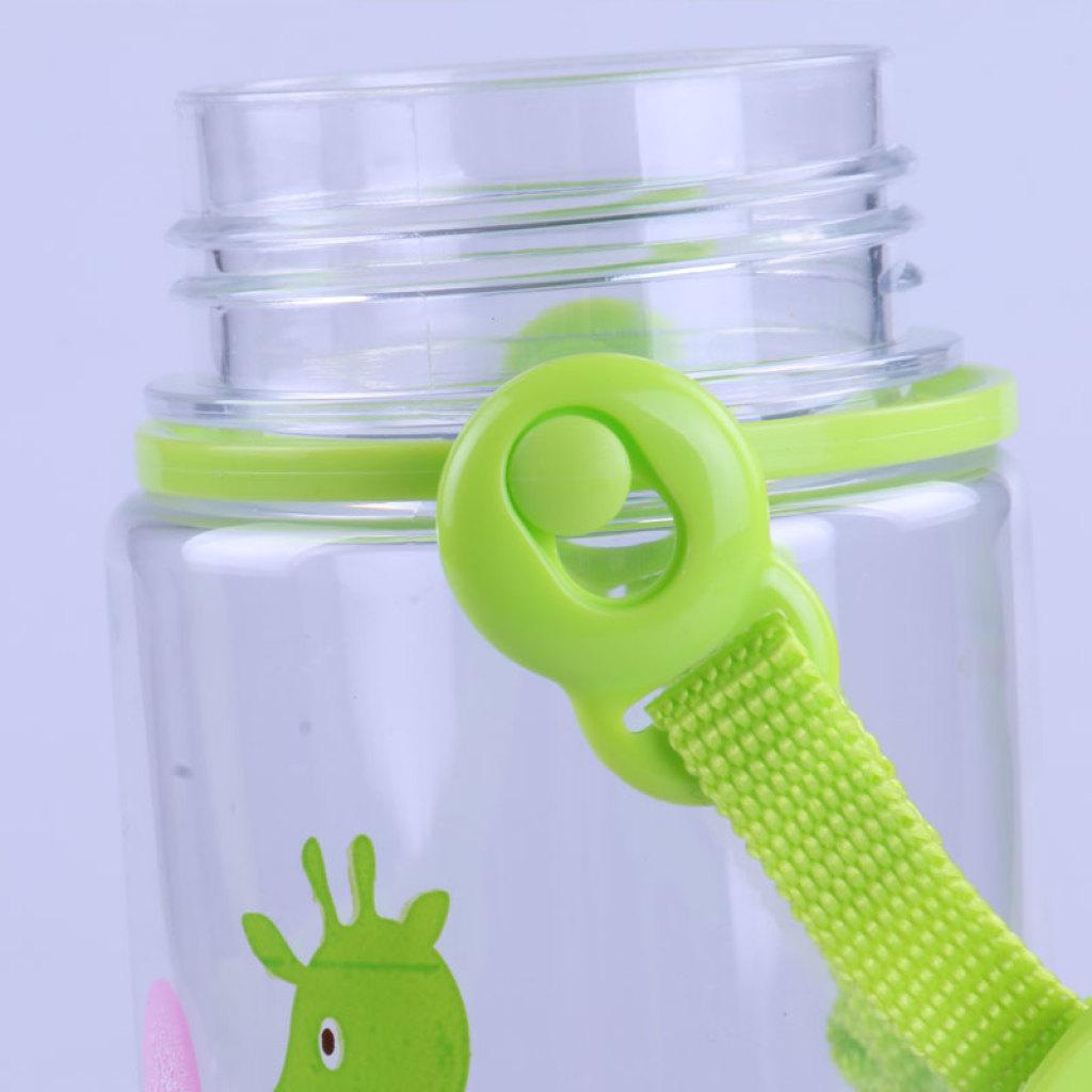 顺美500ml萌旅背带水杯可爱儿童卡通水壶运动 6533