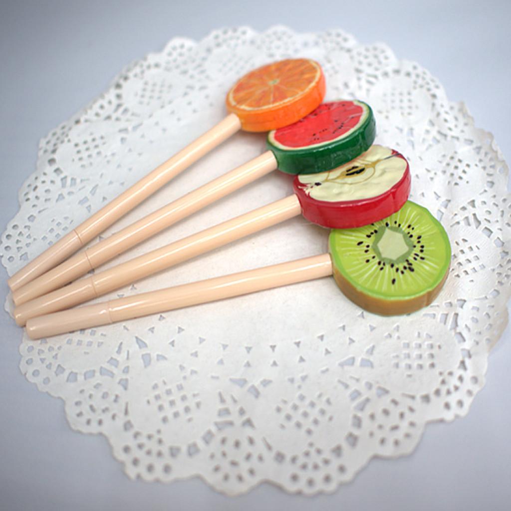 创意小清新水果圆珠笔 棒棒糖造型笔 礼品广告笔定制