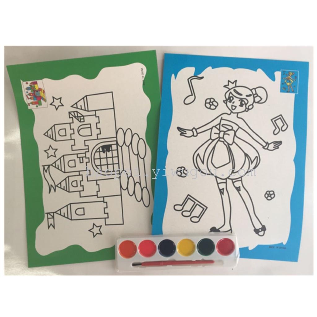 semi - secco 2 acquarello dipinto acquarello colorazione mista per bambini