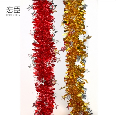 The new Christmas star top ribbon wedding birthday party show shop decoration color ribbon