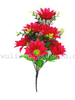 The Qingming Festival cemetery grave worship decoration supplies wholesale 7 head small Phoenix Chrysanthemum