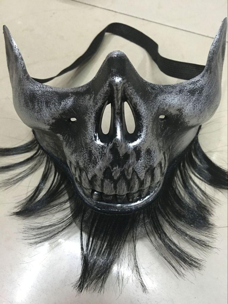下半脸骷髅面具 带胡子的