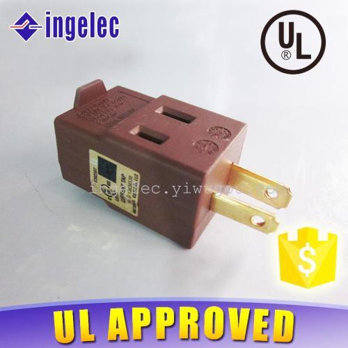 Supply Color Chocolate travel plug 1 turn three-way plug switch socket-